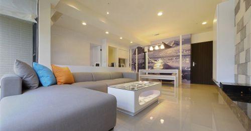 时尚美式风格客厅沙发装修案例