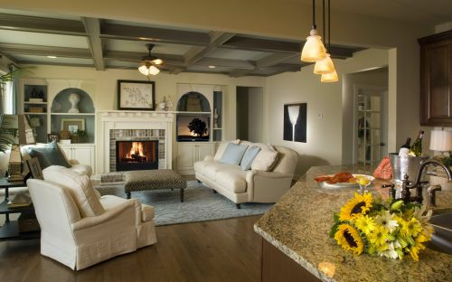美式风格三居客厅楼房装修图片大全