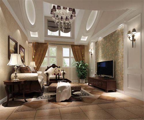 美式 风格二居室客厅装修图片