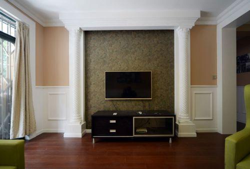 沉稳华丽美式风格客厅电视柜装修实景图