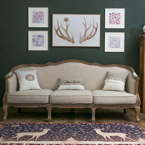 典雅美式风格客厅自然感背景墙图片欣赏