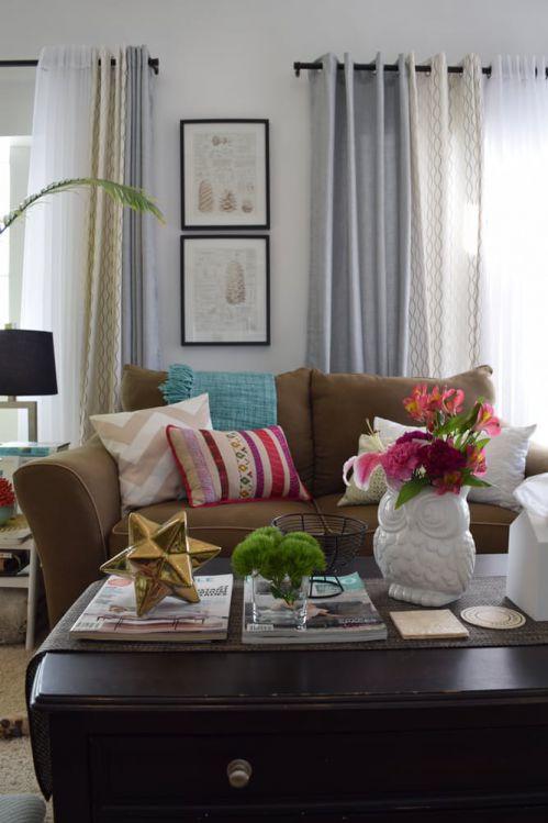 时尚美式风格典雅客厅茶几装修图片