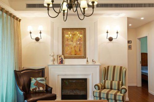 典雅美式风格客厅背景墙装修设计
