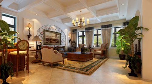 美式风格四居室客厅装修图片欣赏