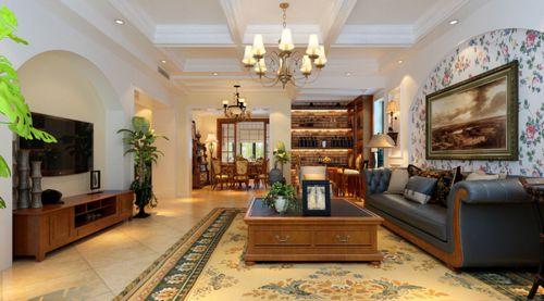 美式风格四居室客厅装修效果图欣赏