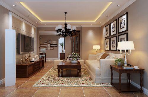 美式田园三居室客厅装修图片欣赏