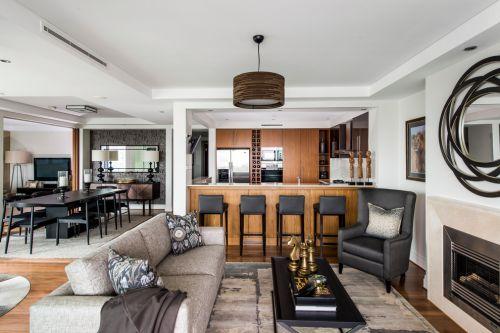 时尚范儿美式家居风格客厅装修实景图