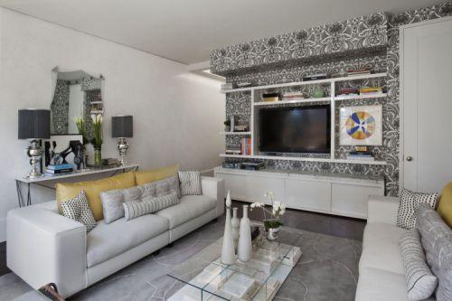 美式风格客厅三居室装修样板间