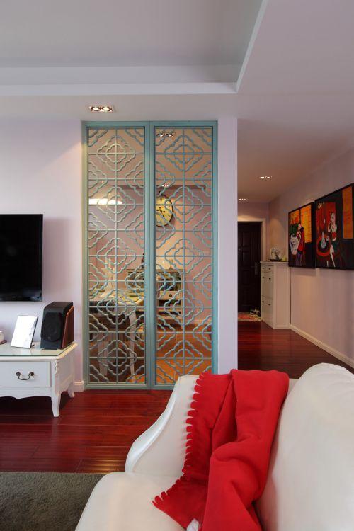 文艺清新美式风格客厅隔断装修设计