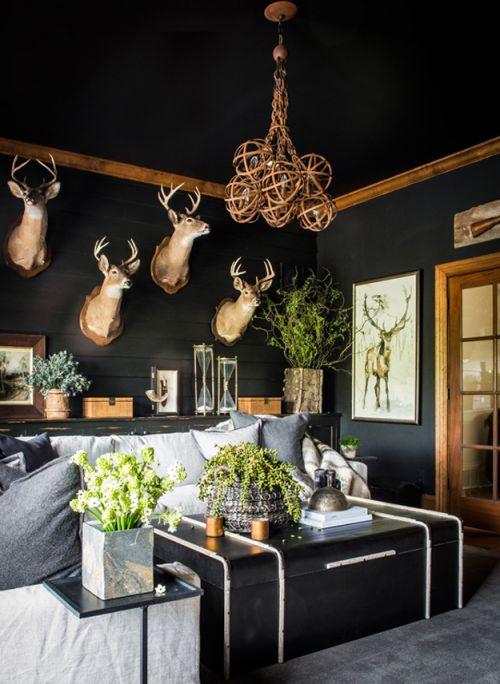 随性自在美式风格客厅复古茶几效果图