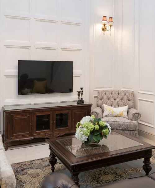 亮丽美式风格别墅客厅装修实景图