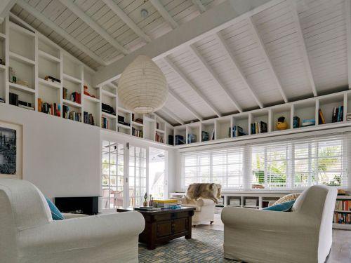 休闲美式风格客厅复古茶几装修图片