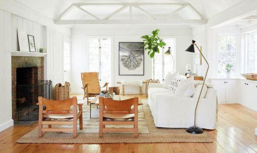 休闲美式风格温馨客厅装修实景图