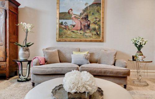 小清新简约美式风格客厅装修实景图