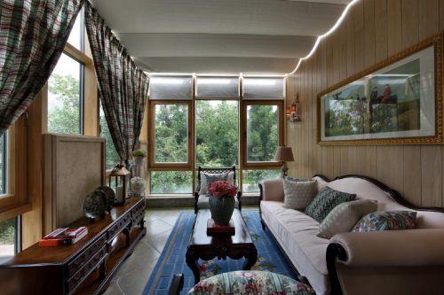温暖淡雅美式风格客厅装修设计