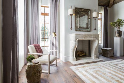 美式风格悠然闲适客厅壁炉装修设计图