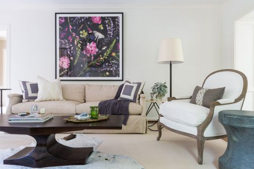 优雅简洁美式风格客厅背景墙效果图