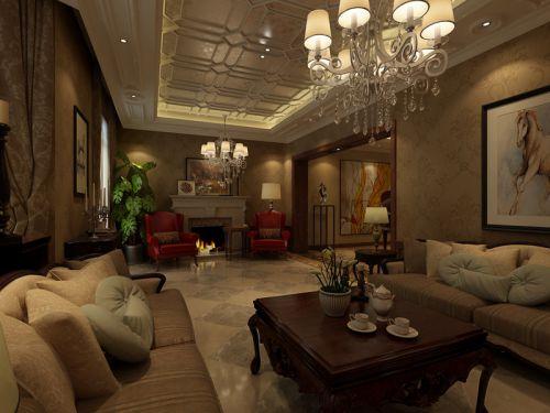 美式风格别墅客厅装修图片欣赏