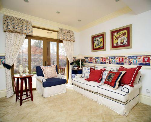 优雅浪漫美式风格客厅装修设计