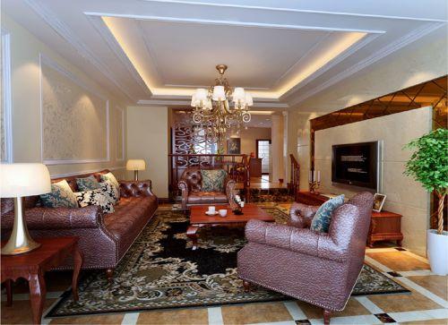 新美式四居室客厅装修图片欣赏