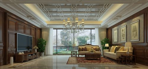 美式风格 别墅客厅装修效果图欣赏