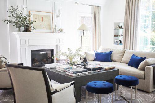 美式风格优雅客厅大气茶几装修图片