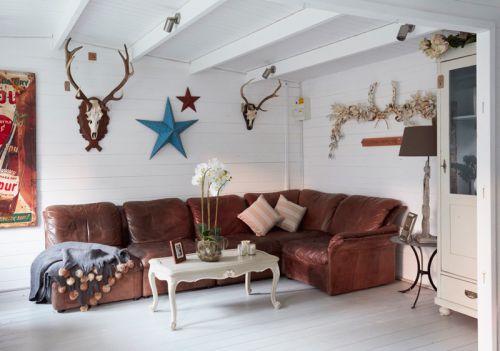 休闲美式风格客厅生动活泼背景墙设计图