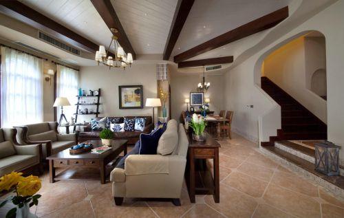 文雅创意美式风格复古客厅装修设计
