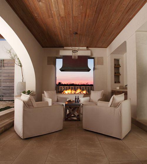 美式风格休闲温暖客厅装修实景图