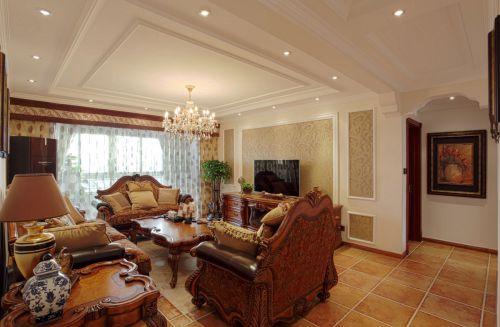 大气宽敞美式客厅效果图