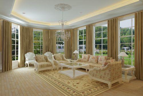 美式风格五居室客厅沙发装修效果图大全