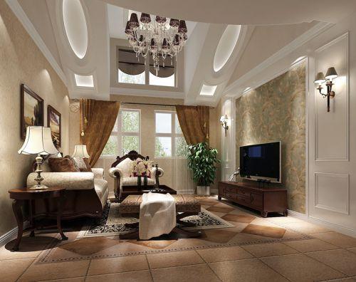 美式风格二居室客厅装修图片