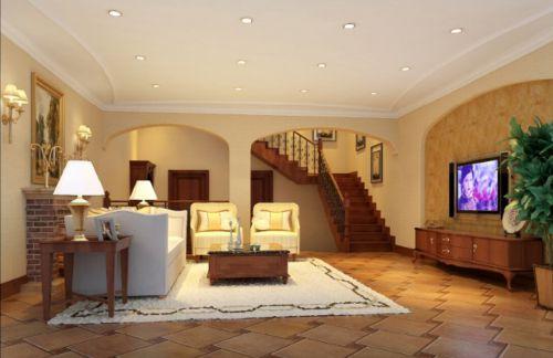 美式休闲五居室客厅装修图片欣赏