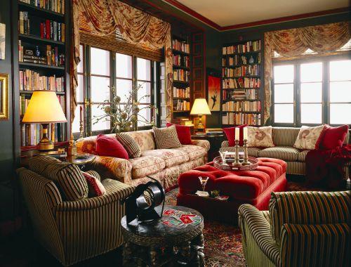 温暖舒适的美式田园风格客厅装修效果图