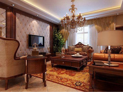 美式风格别墅客厅沙发装修效果图大全