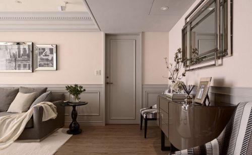 美式风格客厅轻复古背景墙装修效果图