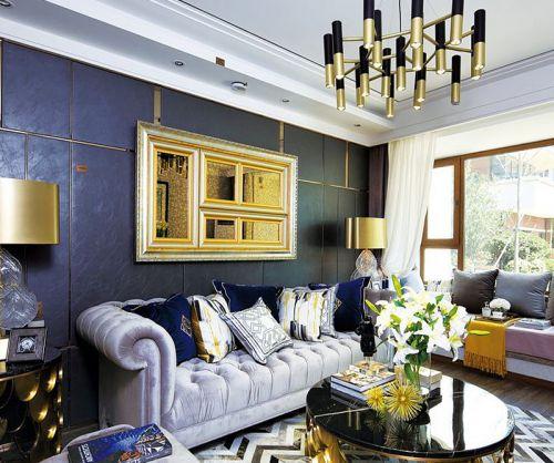 时尚质感美式风格客厅设计效果图