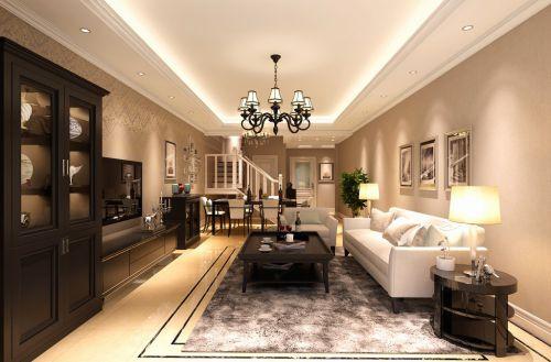 新美式三居室客厅装修效果图欣赏