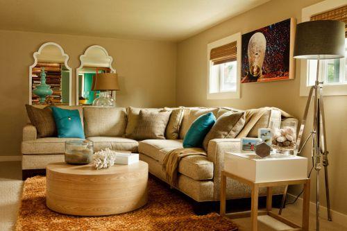 优雅美式风格客厅沙发装修实景图