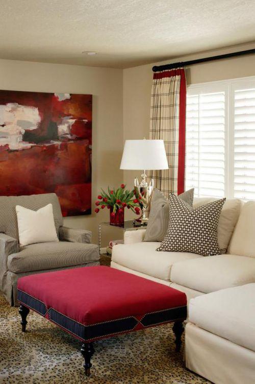 浪漫生活美式风格客厅茶几装修实景图