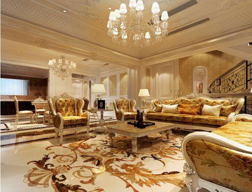美式风格设计四居室客厅装修图片欣赏
