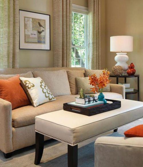 优雅客厅美式风格白色茶几装修实景图