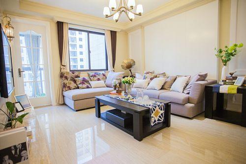 优雅美式风三居温馨客厅装修效果图