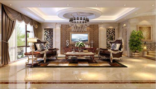 美式简约别墅客厅装修效果图欣赏