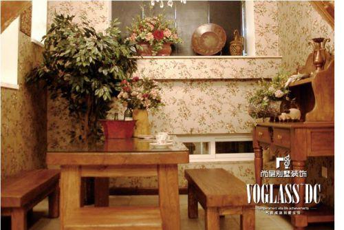 美式乡村六居室客厅装修效果图