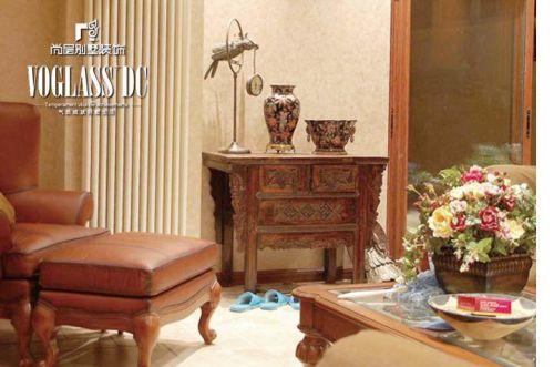 美式乡村六居室客厅装修图片欣赏