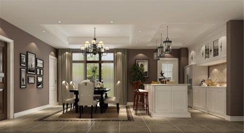 简约美式四居室客厅装修效果图