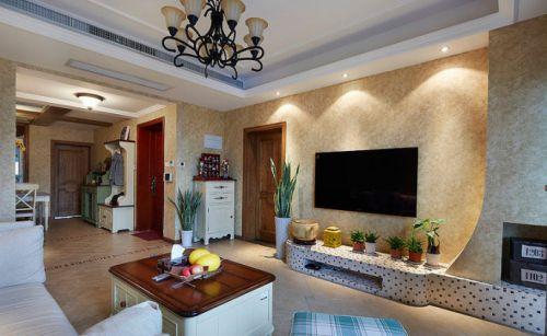 乡村美式三居室客厅装修图片欣赏