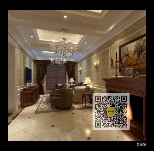 新古典美式别墅客厅装修效果图大全