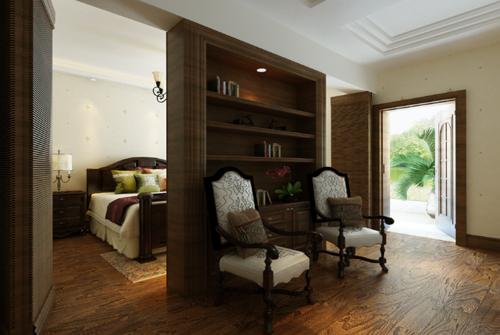 美式风格复式客厅装修效果图大全